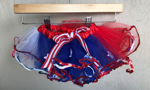 TUTU - RED WHITE & BLUE  WITH STARS