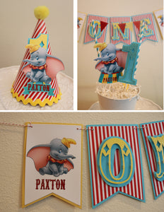 DUMBO - SMASH CAKE BIRTHDAY PARTY PACKAGE - RED