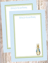 PETER RABBIT BLUE - BABY SHOWER  - ADVICE FOR THE NEW MOMMY CARD