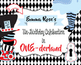 ALICE IN WONDERLAND RED - PRINTABLE BACKDROP TEA PARTY