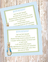 PETER RABBIT BLUE - BABY SHOWER - BOOK INSTEAD OF A CARD REQUEST