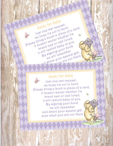 WINNIE THE POOH AND PIGLET LAVENDER - BABY SHOWER - PRINTABLE BOOK INSTEAD OF A CARD REQUEST