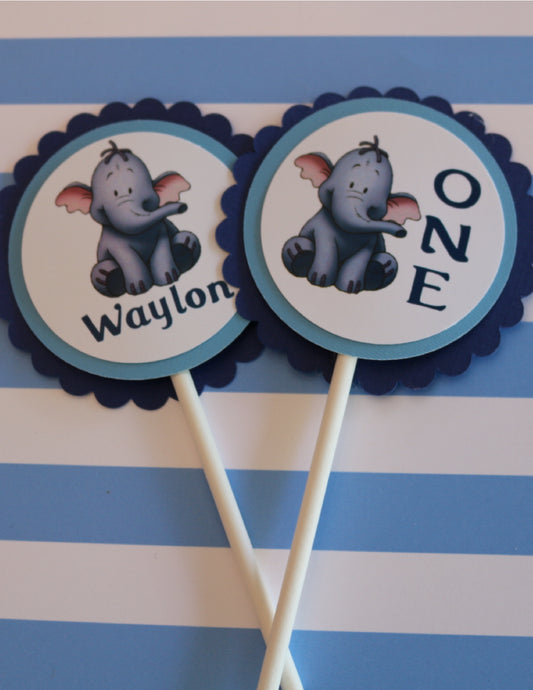 HEFFALUMP - WINNIE THE POOH - CUPCAKE TOPPERS
