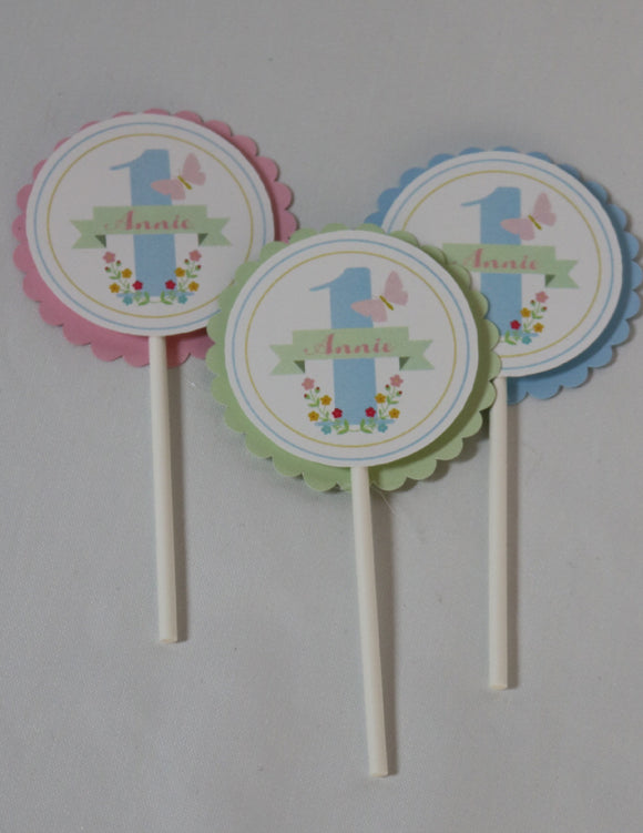 BUTTERFLY KISSES - CUPCAKE TOPPERS