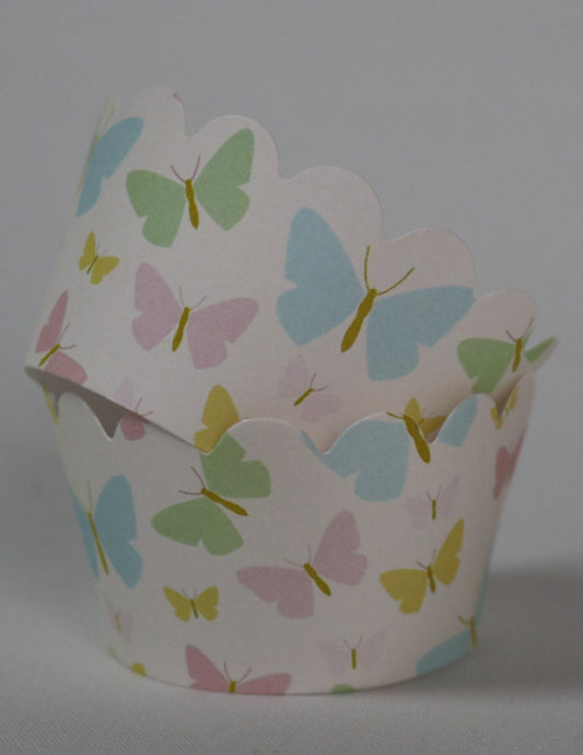 BUTTERFLY KISSES - CUPCAKE WRAPPERS