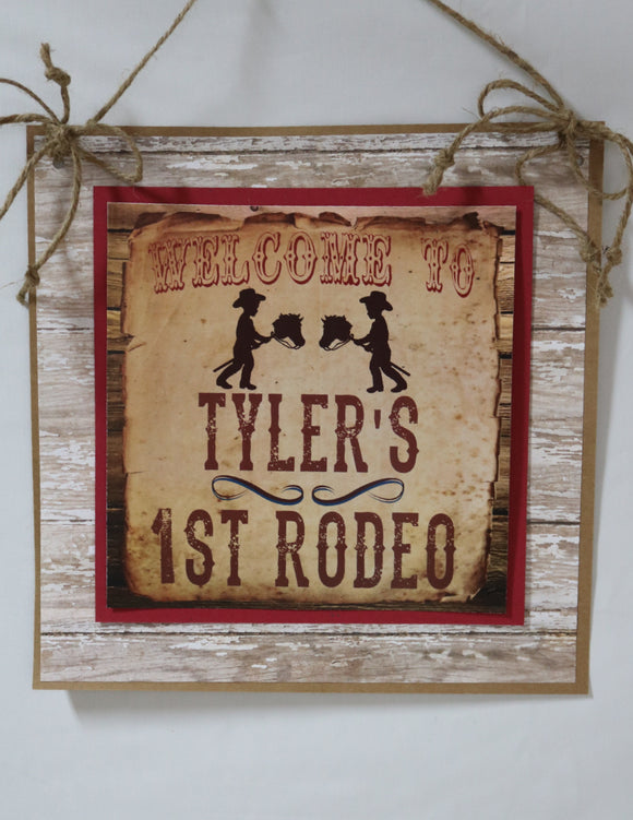 COWBOY - WELCOME DOOR BANNER