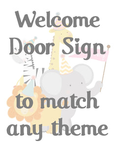 DOOR BANNER - WELCOME SIGN IN ANY THEME