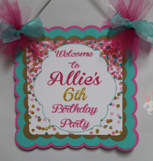 CONFETTI BIRTHDAY-WELCOME DOOR BANNER