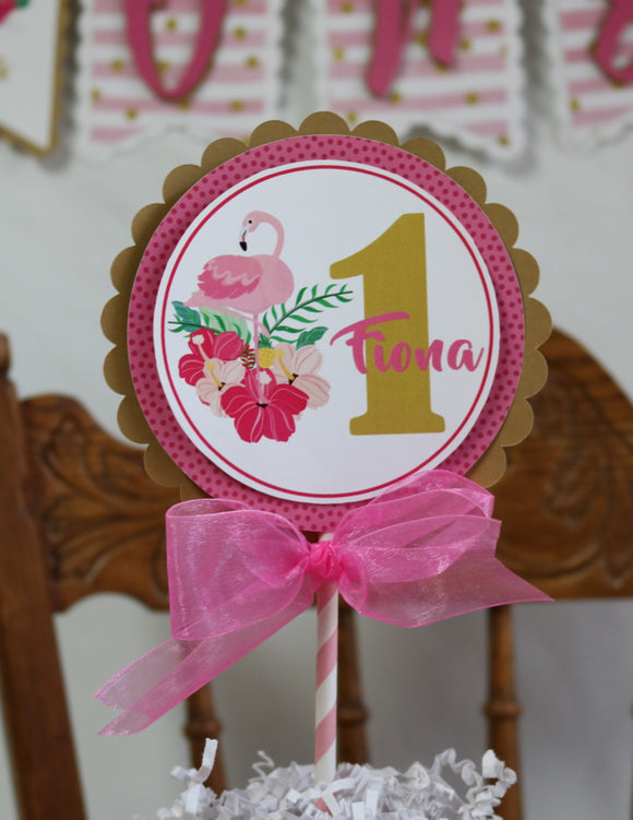 FLAMINGO - PINK OR GOLD - CAKE TOPPER