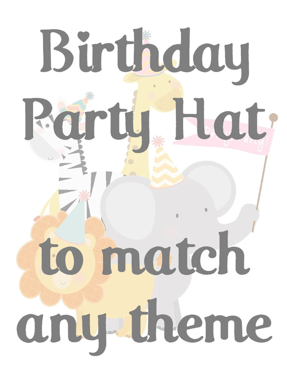 BIRTHDAY PARTY HAT - TO MATCH ANY THEME