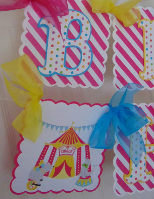 CIRCUS - HAPPY BIRTHDAY NAME BANNER