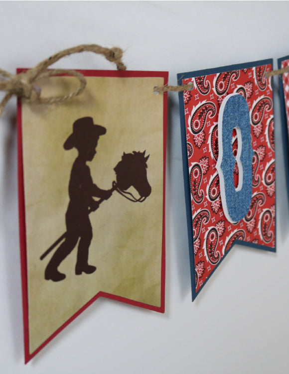 COWBOY - HIGH CHAIR BANNER
