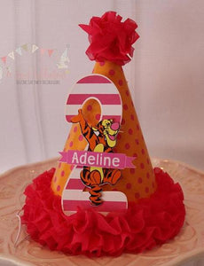 TIGGER -WINNIE THE POOH - BIRTHDAY PARTY HAT