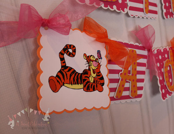 TIGGER - WINNIE THE POOH - HAPPY BIRTHDAY BANNER