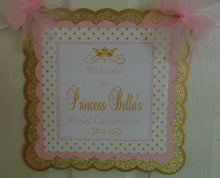 PRINCESS BIRTHDAY -  PINK & GOLD - DOOR BANNER