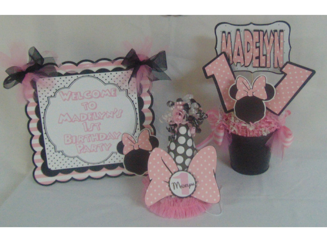 MINNIE MOUSE POLKA DOT ULTIMATE BIRTHDAY PARTY PACKAGE