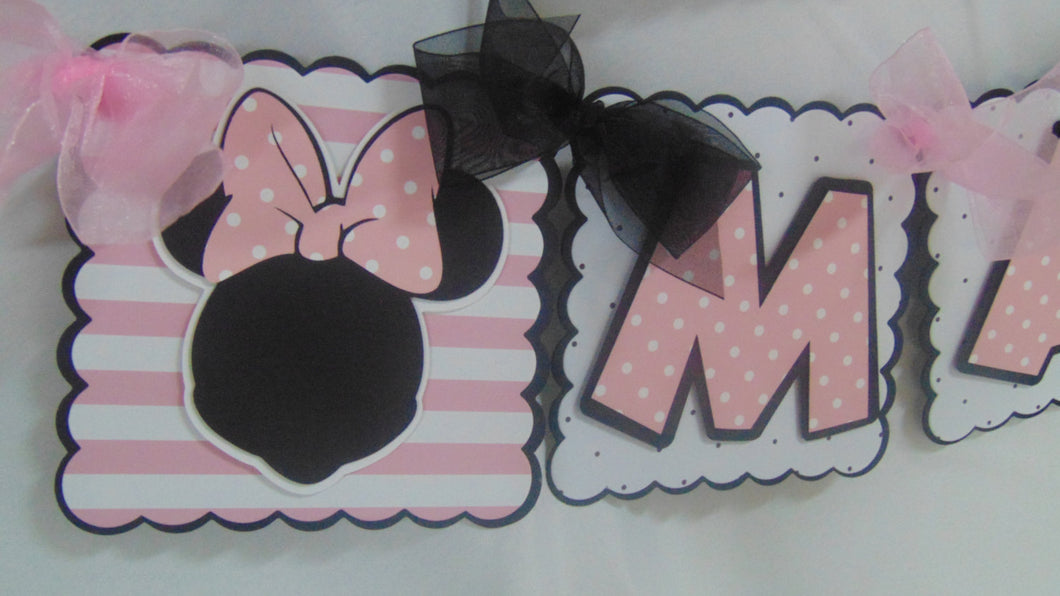MINNIE BIRTHDAY NAME BANNER A Sweet Celebration