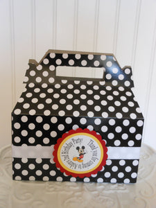 MICKEY & MINNIE MOUSE POLKA DOT FAVOR GABLE BOXES