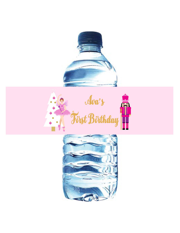 NUTCRACKER BALLET - WATERPROOF WATER BOTTLE LABELS