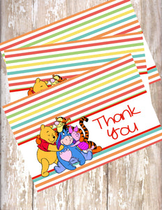 WINNIE THE POOH AND FRIENDS - PRINTABLE THANK YOU