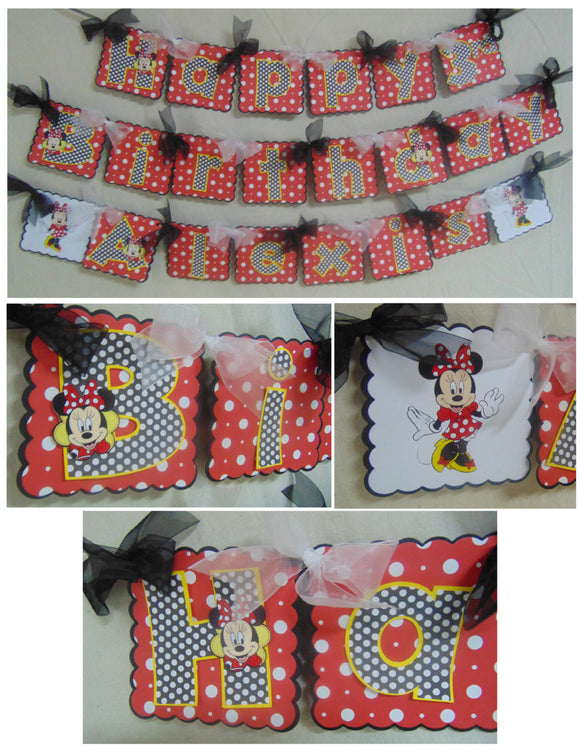 MICKEY & MINNIE  MOUSE -  BIRTHDAY BANNER