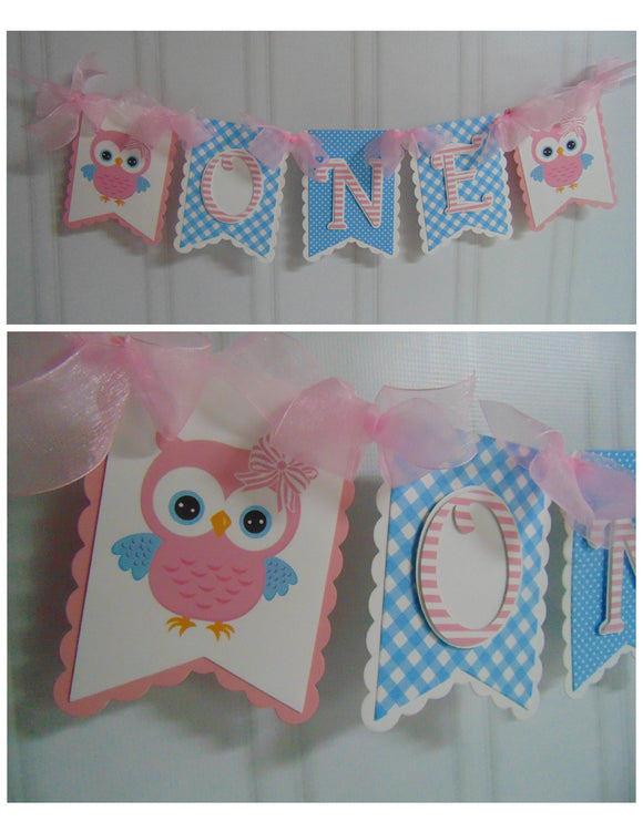 OWL HIGH-CHAIR BANNER