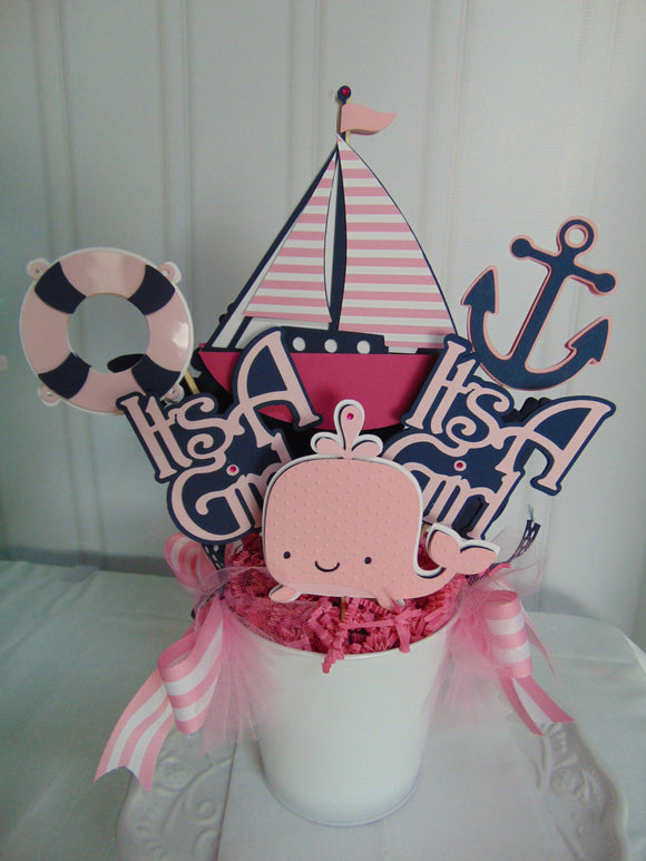 NAUTICAL - BABY SHOWER CENTERPIECE