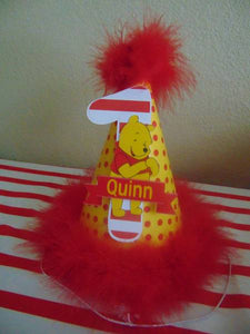 WINNIE THE POOH RED BIRTHDAY PARTY HAT