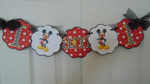 MICKEY MOUSE - HIGH CHAIR BANNER