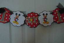 MICKEY MOUSE HIGH CHAIR BANNER