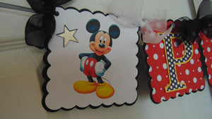 MICKEY MOUSE - HAPPY BIRTHDAY NAME BANNER