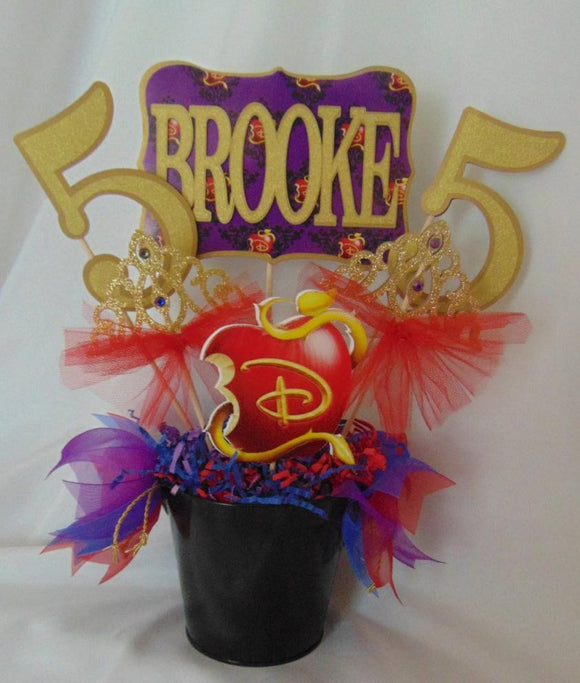 DISNEY DESCENDANTS - BIRTHDAY CENTERPIECE