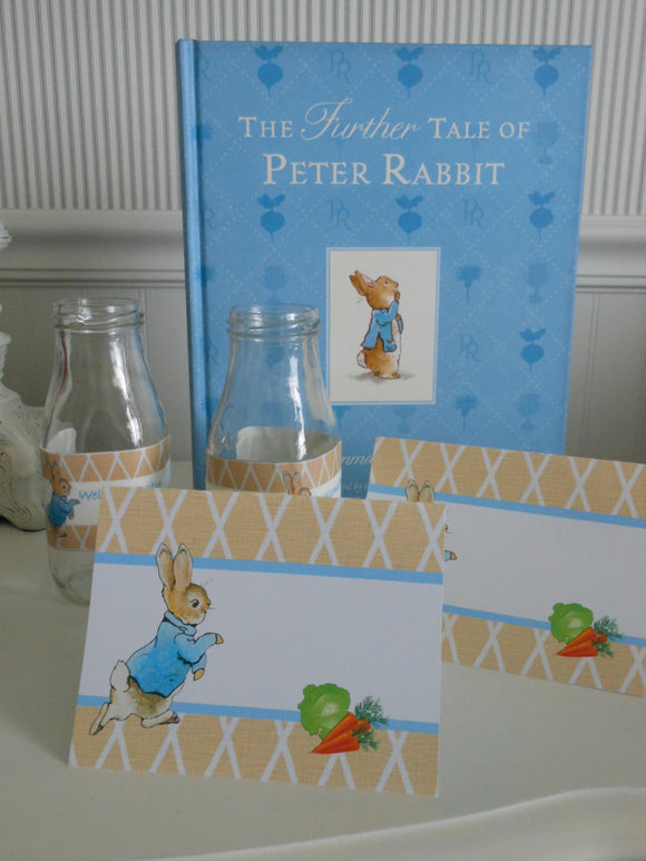 PETER RABBIT LINEN - PERSONALIZED PRINTABLE TABLE TENTS