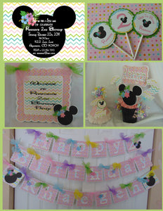 MINNIE MOUSE LUAU BIRTHDAY PARTY PACKAGE