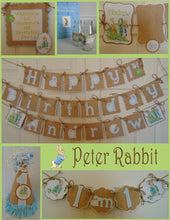 PETER RABBIT 1ST BIRTHDAY PARTY PACKAGE
