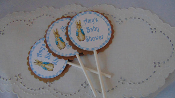 PETER RABBIT CUPCAKE TOPPERS