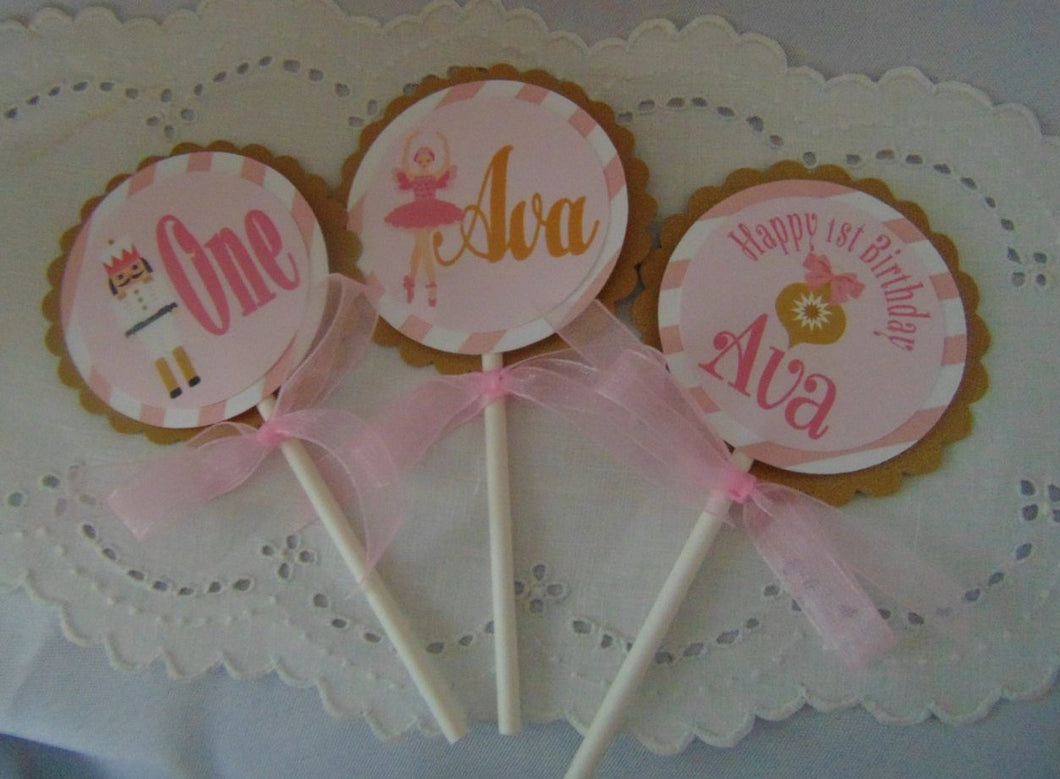 NUTCRACKER CUPCAKE TOPPERS
