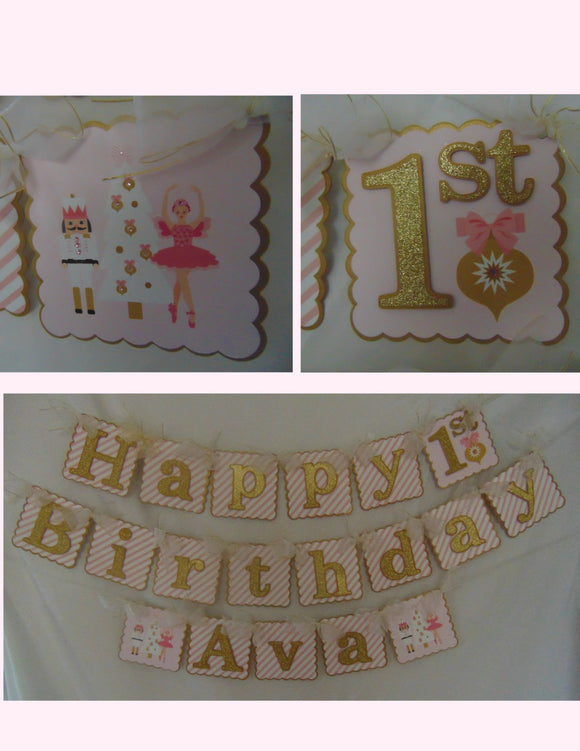 NUTCRACKER HAPPY BIRTHDAY BANNER