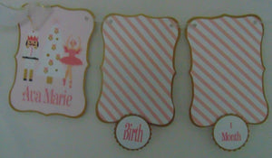 NUTCRACKER BALLET PASTEL PINK - 12 MONTH PHOTO BANNER