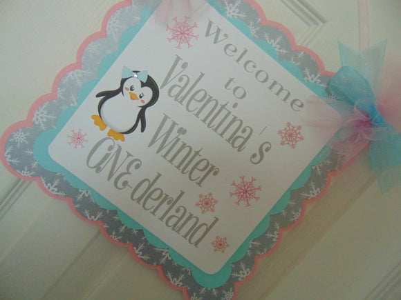 PENGUIN - DOOR BANNER