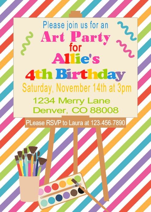 ART PARTY - BIRTHDAY INVITATION - JPG