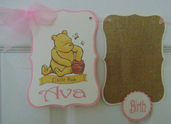 WINNIE THE POOH CLASSIC PINK - 12 MONTH PHOTO BANNER