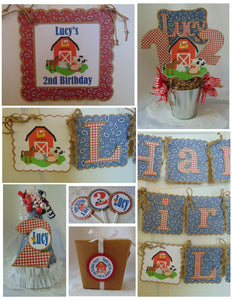 FARM ANIMALS - BIRTHDAY ULTIMATE BIRTHDAY PARTY PACKAGE