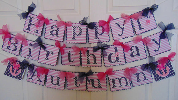 NAUTICAL HAPPY BIRTHDAY NAME BANNER
