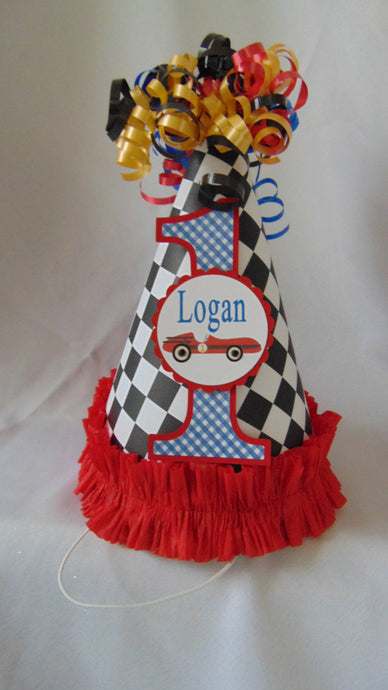 RACE CAR - BIRTHDAY PARTY HAT