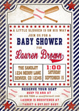 BASEBALL - BABY SHOWER - PRINTABLE INVITATION WITH FREE MATCHING THANK YOU