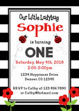 LADYBUG - BIRTHDAY PRINTABLE INVITATION - FREE MATCHING THANK YOU