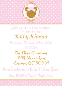 MINNIE MOUSE PINK & GOLD - BABY SHOWER - PRINTABLE iNVITATIONS - FREE MATCHING THANK YOU - JPG/PDF