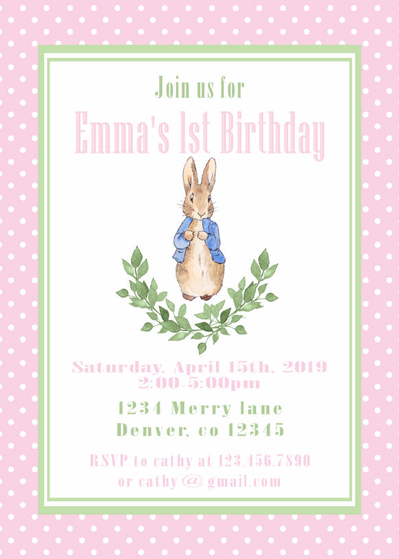 DUMBO - BIRTHDAY INVITATION - PINK