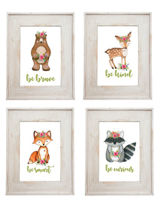 WOODLAND ANIMAL - SET OF 4 PRINTS - JPG ONLY